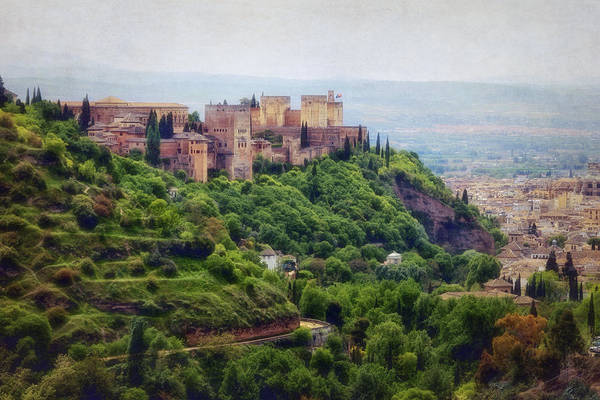 Photograph - The Alhambra From Sacromonte by Joan Carroll