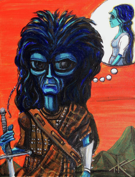 Painting - The Alien Braveheart by Similar Alien