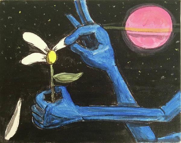 Painting - The Alien Loves Me... The Alien Loves Me Not by Similar Alien