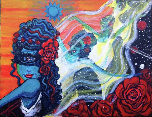 The Alien Scarlet Begonias Art Print