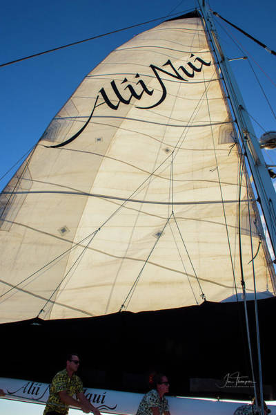 Photograph - The Alii Nui Crew Raising The Sail by Jim Thompson