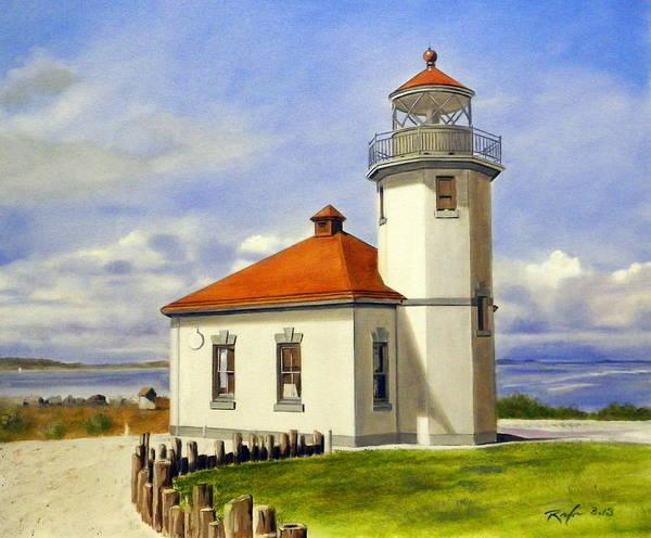 The Alki Point Light Art Print