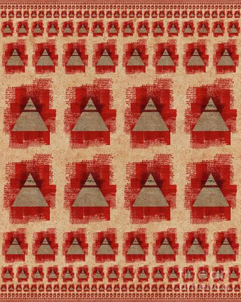 The All-seeing Eye Pyramid Pattern Art Print