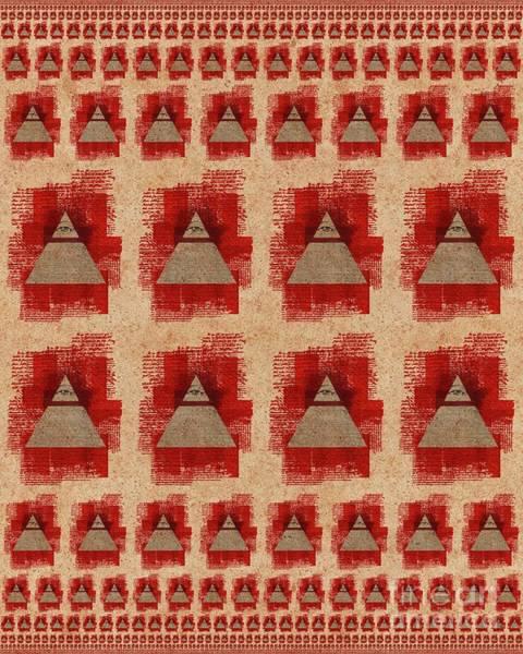 Masonic Wall Art - Painting -  The All-seeing Eye Pyramid Pattern by Pierre Blanchard