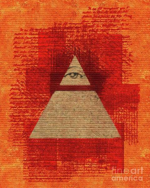 Masonic Wall Art - Painting - The All-seeing Eye Pyramid by Pierre Blanchard