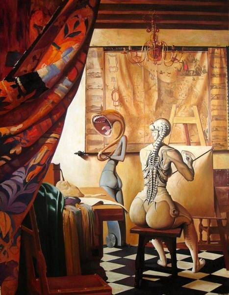 Allegory Wall Art - Painting - The Allegory Of Painting by Adrian Borda