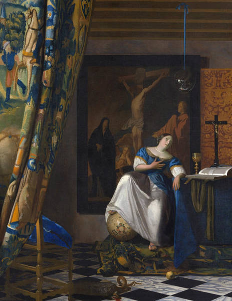 Painting - The Allegory Of The Faith by Jan Vermeer