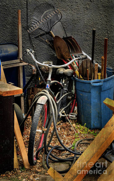Photograph - The Alley Bicycle by Craig J Satterlee