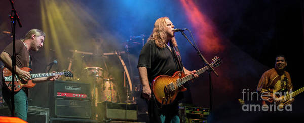 Allman Brothers Band Photograph - The Allman Brothers Band by David Oppenheimer