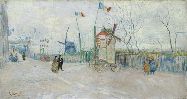Honeymoon Painting - The Allotments At Montmartre, 1887 by Vincent Van Gogh