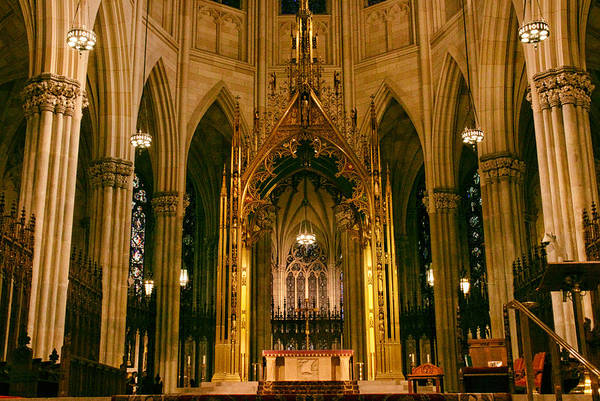 Photograph - The Altar Of St. Patrick's   by Jessica Jenney