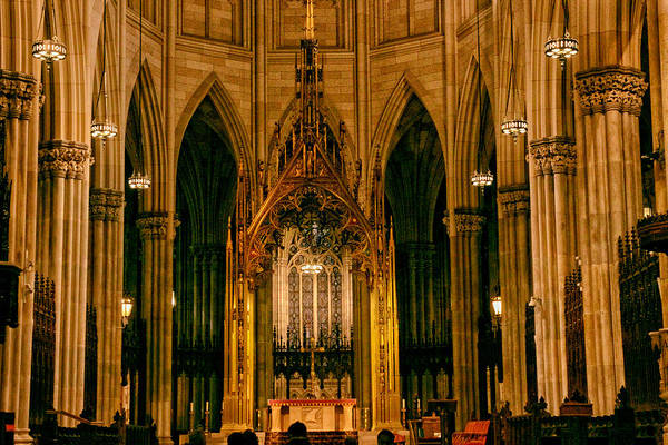 Photograph - The Altar Of St. Patrick's Cathedral by Jessica Jenney