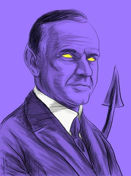 Coolidge Drawing - The Amazing Coolidge by Ryan Lanigan
