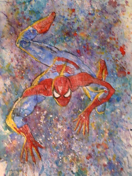 Willem Dafoe Wall Art - Painting - The Amazing Spider Man by Robert Hogg