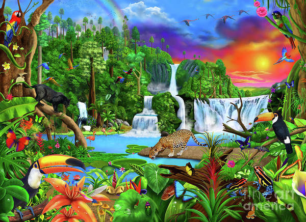 Wall Art - Digital Art - The Amazon by MGL Meiklejohn Graphics Licensing
