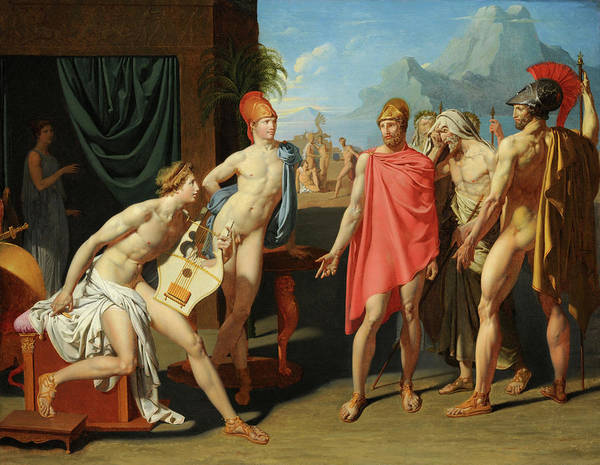 Artemis Wall Art - Painting - The Ambassadors Of Agamemnon In The Tent Of Achilles by Jean-Auguste-Dominique Ingres