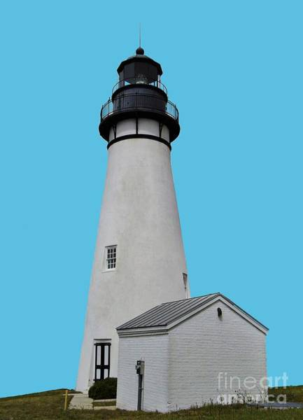 Photograph - The Amelia Island Lighthouse Transparent For Customization by D Hackett