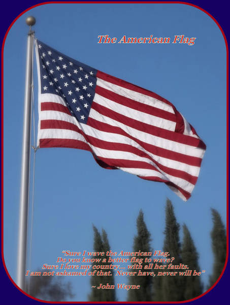 Photograph - The American Flag by Glenn McCarthy Art and Photography
