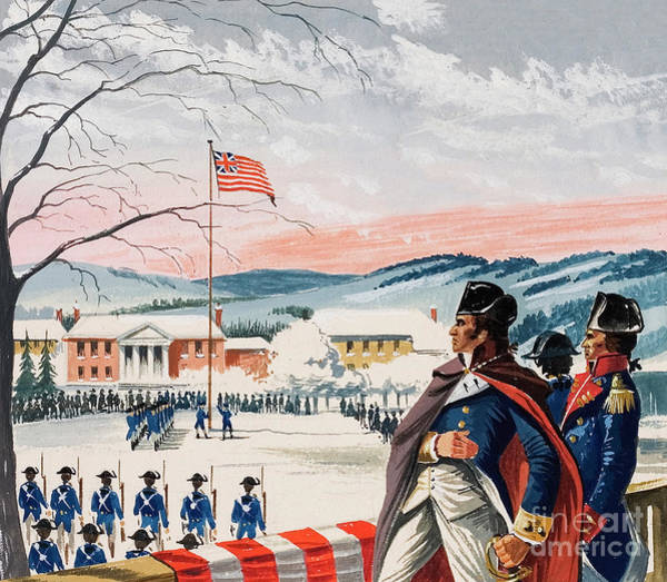 Wall Art - Painting - The American Forces Besieging Boston During The War Of Independence Raised A Flag On Prospect Hill by Dan Escott
