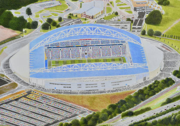 Brighton Painting - The Amex Stadia Art by Brian Casey