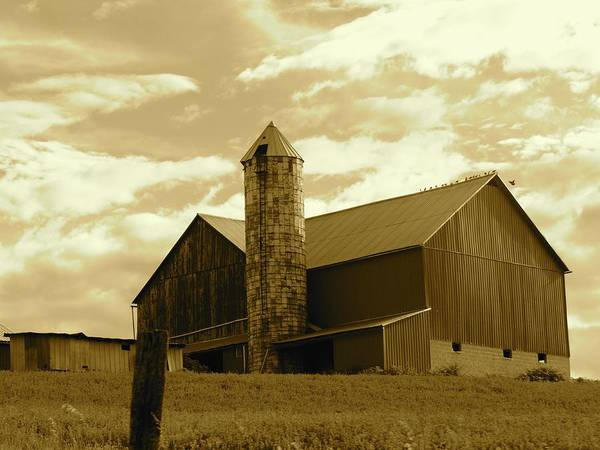 The Amish Silo Barn Art Print