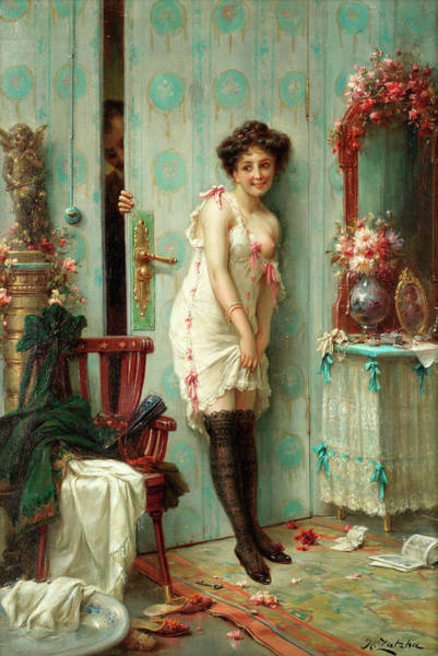 Wall Art - Painting - The Amorous Visitor by Hans Zatzka