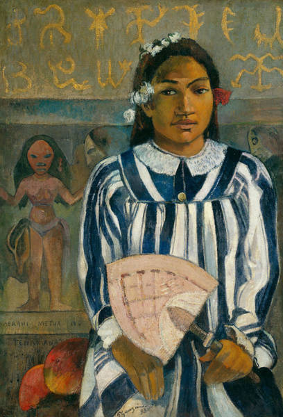 Painting - The Ancestors Of Tehamana Or Tehamana Has Many Parents by Paul Gauguin