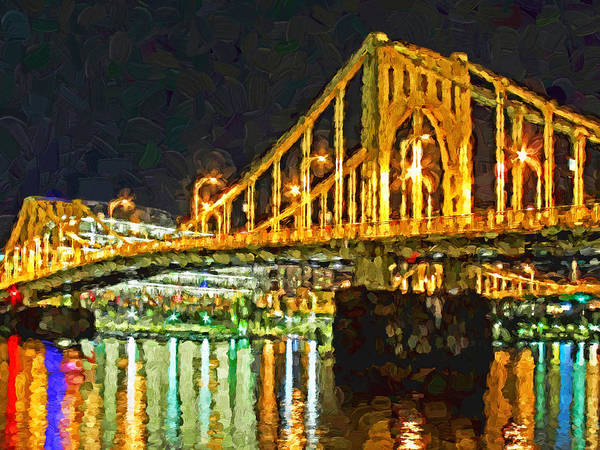 Digital Art - The Andy Warhol Bridge 2 by Digital Photographic Arts