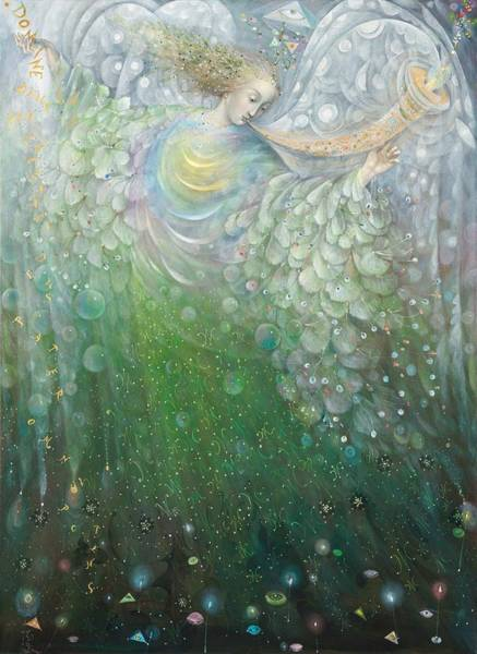 Wall Art - Painting - The Angel Of Growth by Annael Anelia Pavlova
