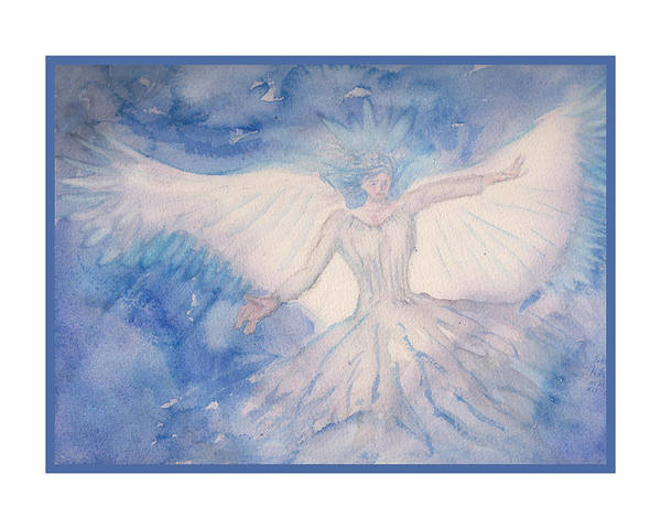 Payers Wall Art - Painting - The Angel Of Light by Rod Hillen