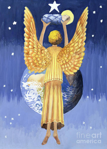 Wall Art - Painting - The Angel Of The World by Trish Schreiber