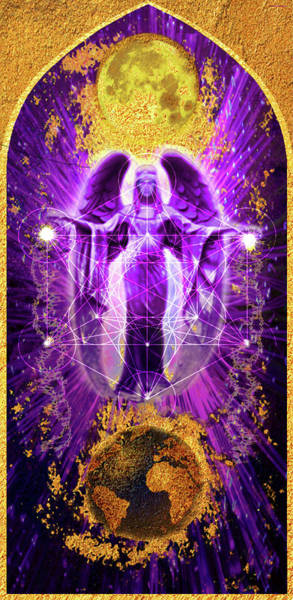 Realization Digital Art - The Angel Of Transcendence - Icon by Christine Gentilhomme