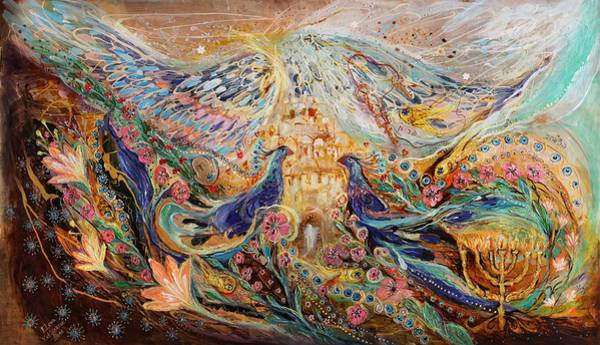 Wall Art - Painting - The Angel Wings #3 Spirit Of Jerusalem by Elena Kotliarker