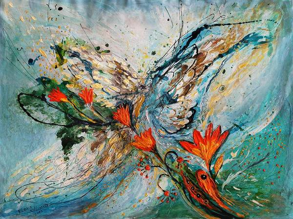 Wall Art - Painting - The Angel Wings Series #1 by Elena Kotliarker