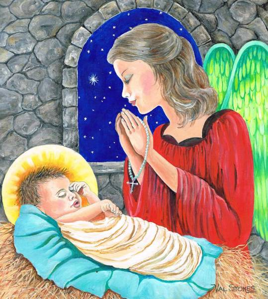 Painting - The Angels Blessing by Val Stokes