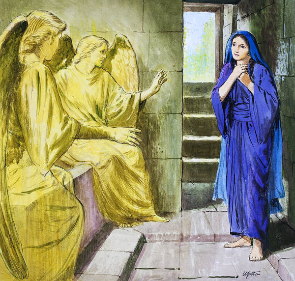 Wall Art - Painting - The Angels In The Tomb by Clive Uptton