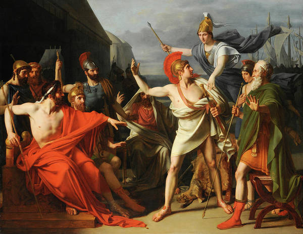 Artemis Wall Art - Painting - The Anger Of Achilles by Michel Martin Drolling