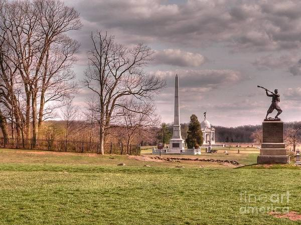 Cemetery Ridge Photograph - The Angle At Cemetery Hill by David Bearden