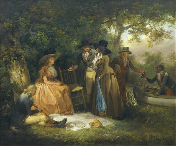 Fashion Plate Painting - The Anglers Repast 1789 by George Morland