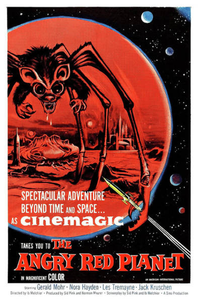 Wall Art - Painting - The Angry Red Planet, Sci Fi Horror Movie Poster by Long Shot