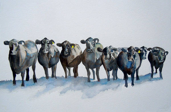 Made In Wall Art - Painting - The Angus Eight by Sharon Mick