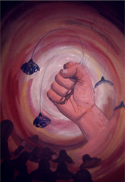 Painting - The Annihilation Of Hate by Frank Hunter