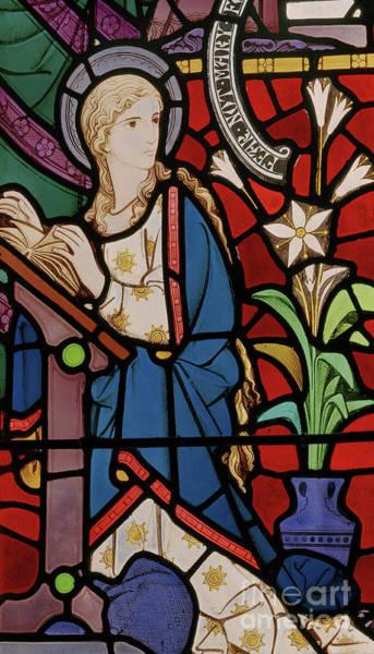 Annunciation Wall Art - Glass Art - The Annunciation, 1864 by Robert Turnill Bayne