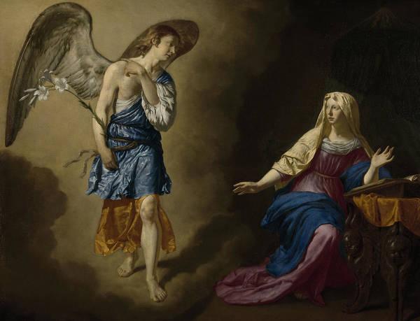 Gabriel Painting - The Annunciation by Adriaen van de Velde