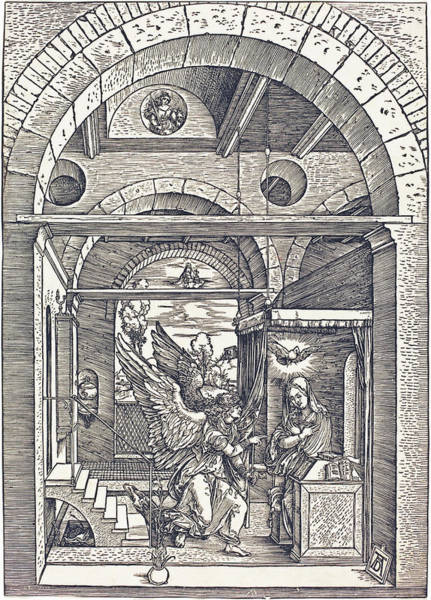 Drawing - The Annunciation by Albrecht Durer