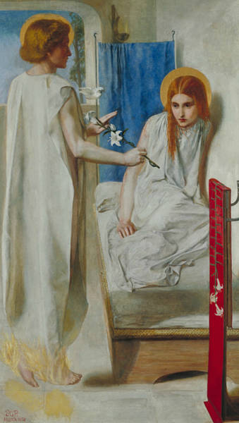 Gabriel Painting - The Annunciation by Dante Gabriel Rossetti