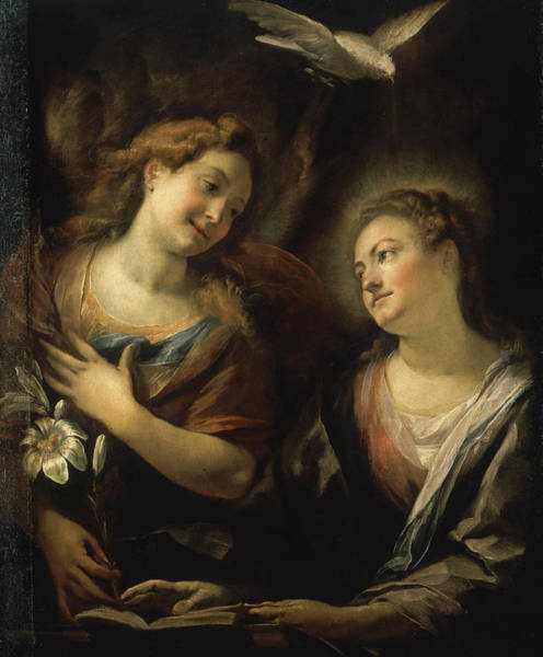 Cesare Painting - The Annunciation by Giulio Cesare Procaccini