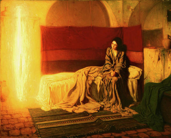 T-shirts Painting - The Annunciation by Henry Ossawa Tanner