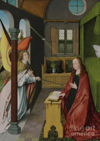 Gabriel Painting - The Annunciation by Jan Provost