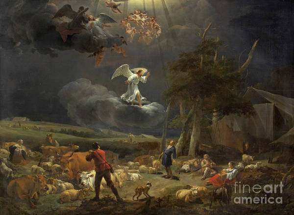Wall Art - Painting - The Annunciation To The Shepherds by Nicolaes Pietersz Berchem
